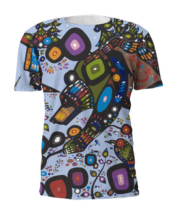 John  Rombough Bear Full Print Art T-Shirt - Oscardo