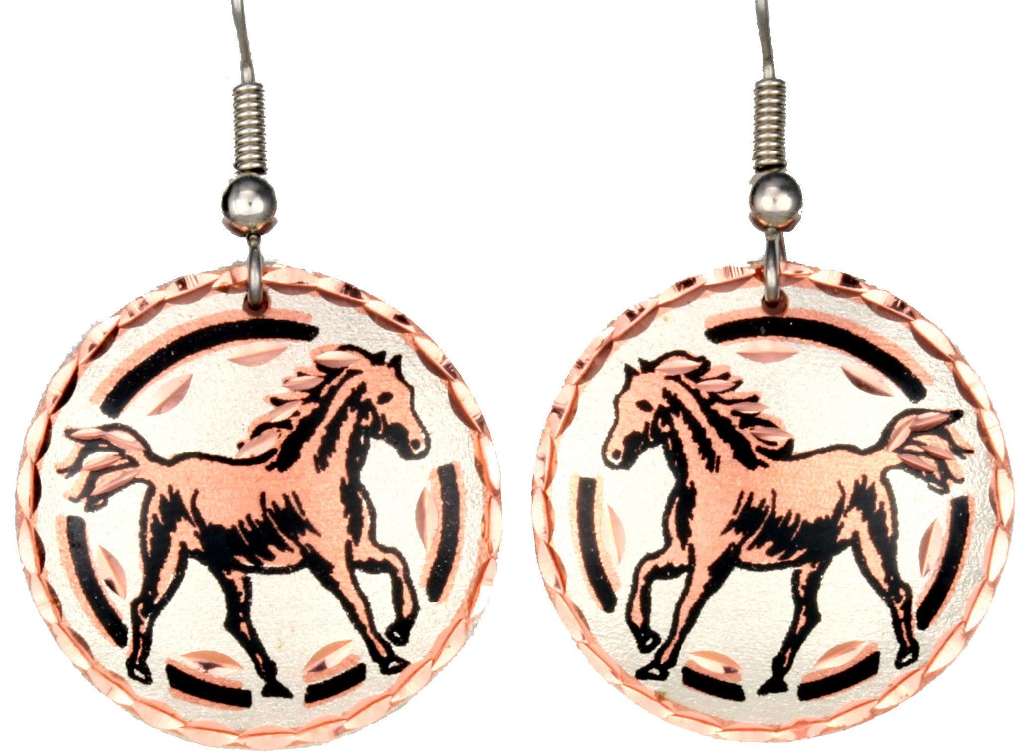 Horse Copper Earrings