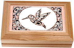 Native Hummingbird Rectangular Wooden Box