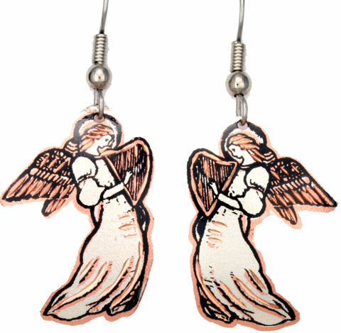 Angel Copper Earrings