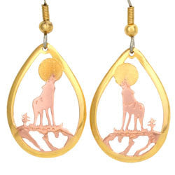 Wolf Cut-out Earrings