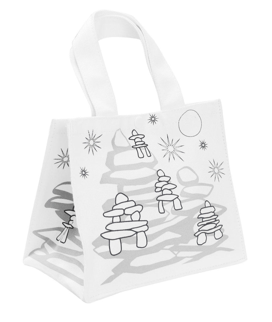 Colour Your Own Inukshuk Lunch Bag