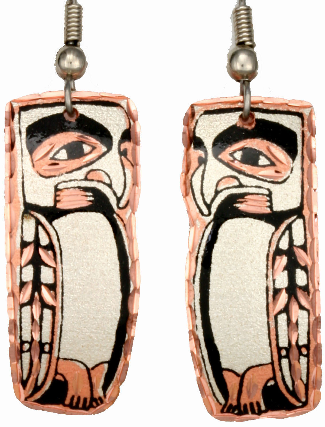 Native Totem Copper Earrings