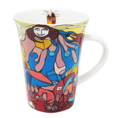 'Indian in Transition' Porcelain Mug - Oscardo