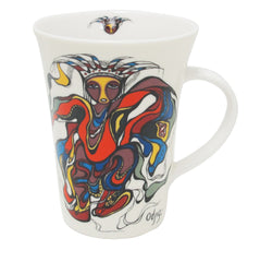 Daphne Odjig Pow Wow Dancer Porcelain Mug