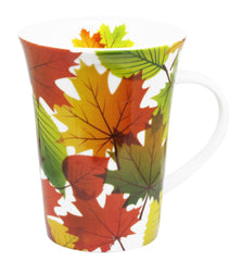 'Fall Leaves' Porcelain Mug