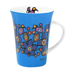 Norval Morrisseau Flowers and Birds Porcelain Mug