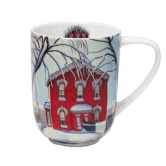 Lawren Harris Red House in Winter Porcelain Mug
