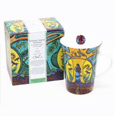 Leah Dorion Strong Earth Woman Porcelain Mug - Oscardo