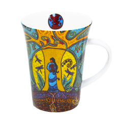 Leah Dorion Strong Earth Woman Porcelain Mug