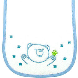 Bear Bib & Burp Pad Set - Blue