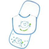 Bear Bib & Burp Pad Set - Pink
