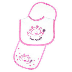 Moose Bib & Burp Pad Set - Pink