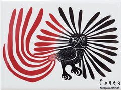 Kenojuak Ashevak Enchanted Owl Magnet