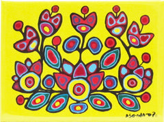 Norval Morrisseau Floral on Yellow Magnet