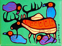Norval Morrisseau Moose Harmony Magnet