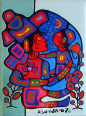 Norval Morrisseau Mother & Child Magnet