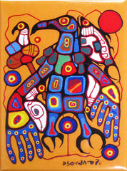 Norval Morrisseau Man Changing into Thunderbird Magnet