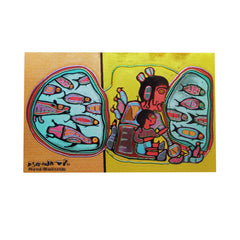 Norval Morrisseau Looking Through Portal Metallic Magnet
