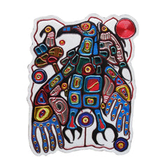 Norval Morrisseau Man Changes into Thunderbird Metallic Magnet