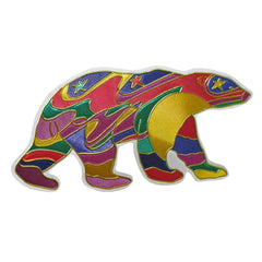 Dawn Oman Alpha Bear Metallic Magnet