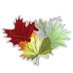 Ruth Lund Triple Leaves Metallic Magnet