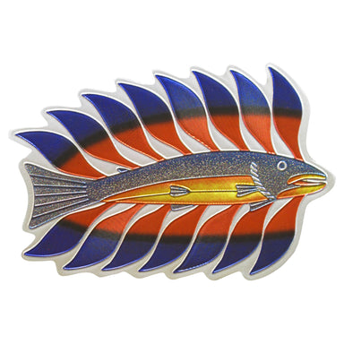 Kenojuak Ashevak Luminous Char Metallic Magnet - Oscardo