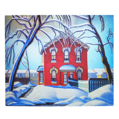 Lawren Harris Red House in Winter Metallic Magnet