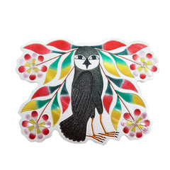 Kenojuak Ashevak Owl's Bouquet Metallic Magnet