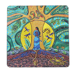 Leah Dorion Strong Earth Woman Metallic Magnet