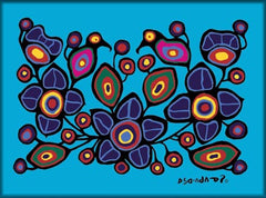 Norval Morrisseau Flowers and Birds Magnet