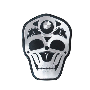 James Johnson Skull Metallic Magnet - Oscardo
