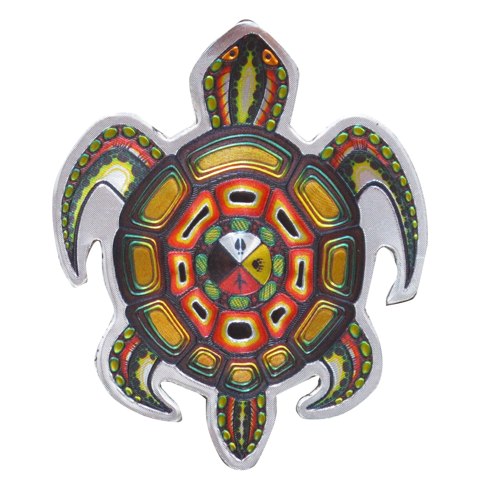 James Jacko Medicine Turtle Metallic Magnet