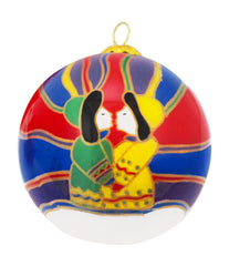 Dawn Oman Aurora Kiss Glass Ornament
