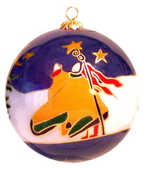 Dawn Oman Earth Angels Glass Ornament