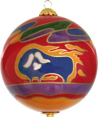 Dawn Oman Muskox Glass Ornament