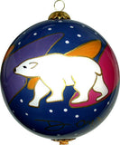 Dawn Oman Snow Bear Glass Ornament