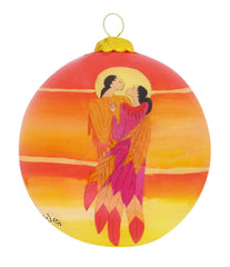 Maxine Noel The Embrace Glass Ornament