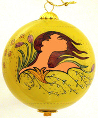 Maxine Noel Spirit of Spring Glass Ornament