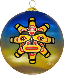 'Sun Child Mask' Glass Ornament - Oscardo