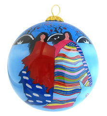 'Daughter of the Sky Woman' Glass Ornament - Oscardo