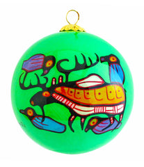 Norval Morrisseau Moose Harmony Glass Ornament