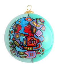 Norval Morrisseau Mother & Child Glass Ornament