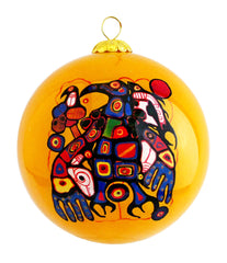 Norval Morrisseau Man Changing into Thunderbird  Glass Ornament