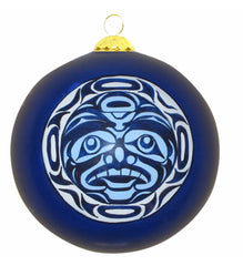Andy Everson Confession to the Moon Glass Ornament