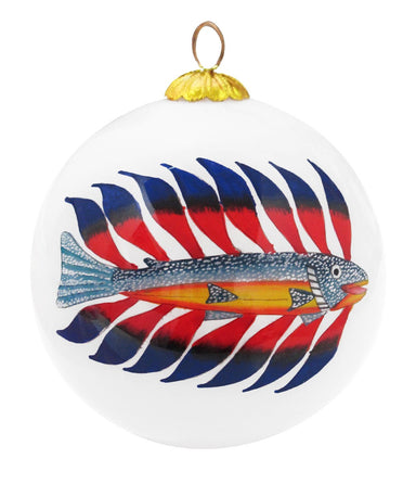 Kenojuak Ashevak Luminous Char Glass Ornament - Oscardo
