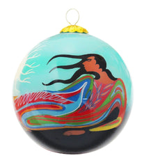Maxine Noel Mother Earth Glass Ornament