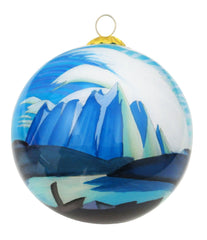Lawren Harris Lake and Mountains Glass Ornament