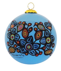 Norval Morrisseau Flowers and Birds - Glass ornament