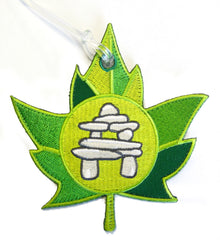 Inukshuk Embroidered Luggage Tag